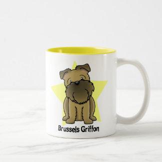 Kawaii Star Brussels Griffon Two-Tone Coffee Mug