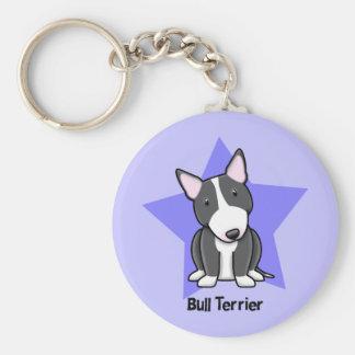 Kawaii Star BW Bull Terrier Keychain