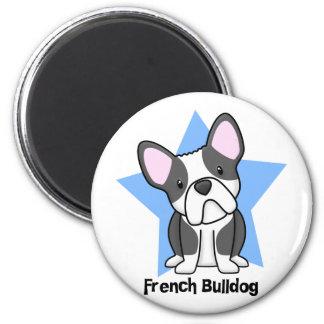 Kawaii Star BW French Bulldog Magnet