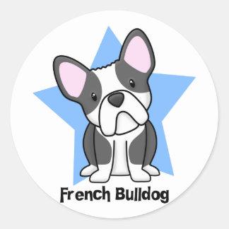 Kawaii Star BW French Bulldog Sticker