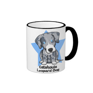 Kawaii Star Catahoula Leopard Dog Ringer Coffee Mug
