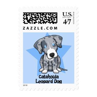 Kawaii Star Catahoula Leopard Dog Stamp