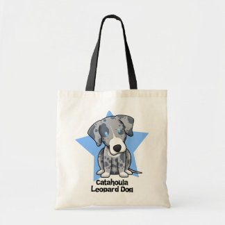 Kawaii Star Catahoula Leopard Dog Tote Bag