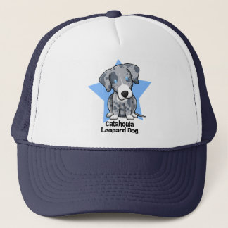 Kawaii Star Catahoula Leopard Dog Trucker Hat