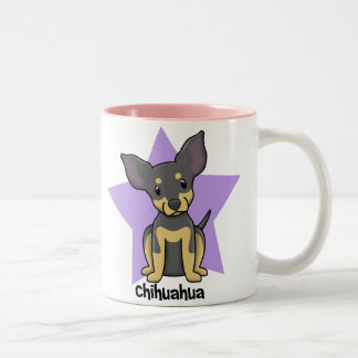 the office star mug. kawaii star chihuahua bt twotone coffee mug the office