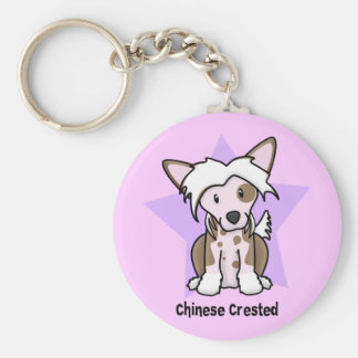 Kawaii Star Chinese Crested Keychain