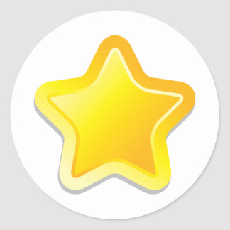 Kawaii star classic round sticker