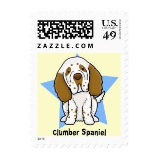 Kawaii Star Clumber Spaniel Postage Stamps