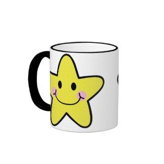kawaii star coffee mug