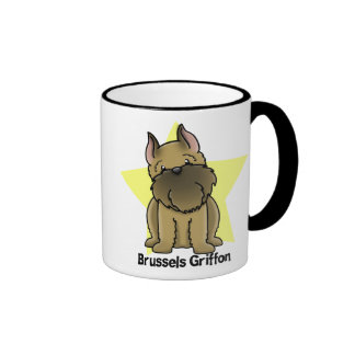 Kawaii Star Cropped Brussels Griffon Ringer Mug
