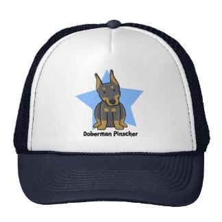 Kawaii Star Doberman Pinscher Trucker Hat