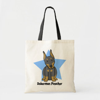 Kawaii Star Doberman Pinscher Tote Bag