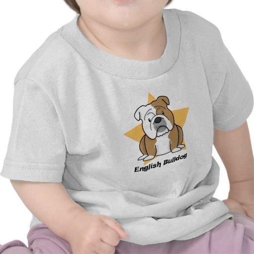 Kawaii Star English Bulldog Baby's Tee Shirts