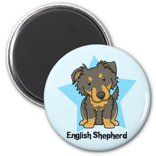 Kawaii Star English Shepherd Fridge Magnets
