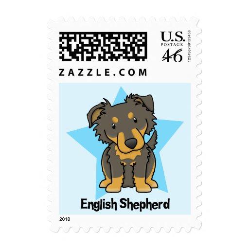 Kawaii Star English Shepherd Postage Stamp