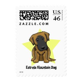 Kawaii Star Estrela Mountain Dog Stamps