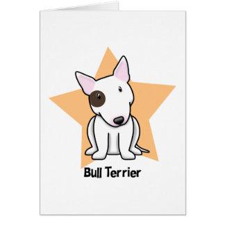 Kawaii Star Eye Spot Bull Terrier Greeting Card