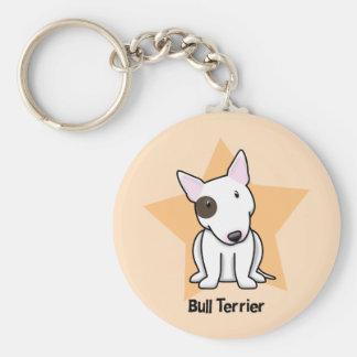 Kawaii Star Eye Spot Bull Terrier Basic Round Button Keychain