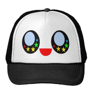 Kawaii Star Eyes Happy Face Rainbow Stars Sweet Hat