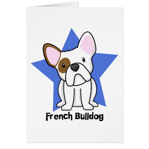 Kawaii Star French Bulldog Greeting Card