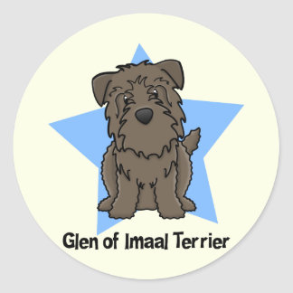 Kawaii Star Glen of Imaal Terrier Classic Round Sticker