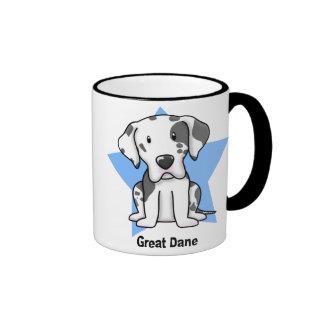 Kawaii Star Harlequin Great Dane Coffee Mug