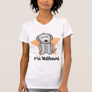 Kawaii Star Irish Wolfhound Ladies TShirt