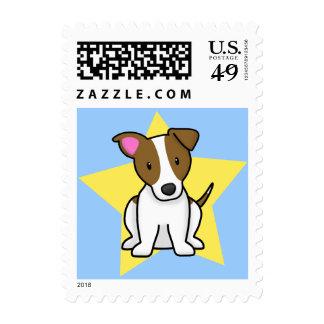 Kawaii Star Jack Russell Terrier Postage Stamps