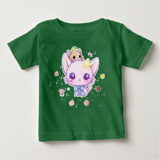 Kawaii star kitty with cute cakes t-shirt