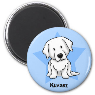Kawaii Star Kuvasz 2 Inch Round Magnet