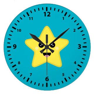 Kawaii Star Large Clock