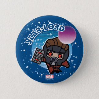 Kawaii Star-Lord In Space Button