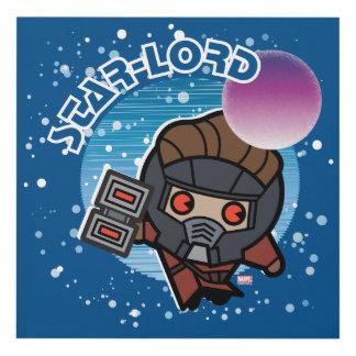 Kawaii Star-Lord In Space Panel Wall Art