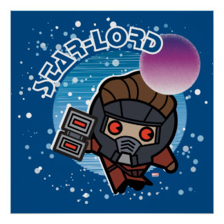 Kawaii Star-Lord In Space Poster