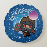 Kawaii Star-Lord In Space Round Pillow