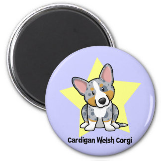Kawaii Star Merle Cardigan Welsh Corgi Magnet