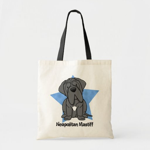 Kawaii Star Neapolitan Mastiff Canvas Bag