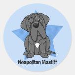 Kawaii Star Neapolitan Mastiff Classic Round Sticker