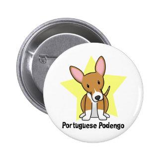 Kawaii Star Portuguese Podengo 2 Inch Round Button
