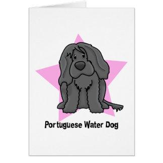 Kawaii Star Portuguese Water Dog Card