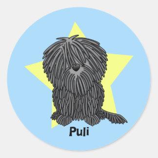 Kawaii Star Puli Classic Round Sticker