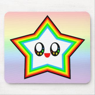 KAWAII STAR RAINBOW HAPPY FACE LUCKY MOUSE PAD