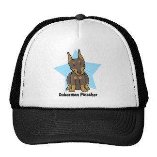 Kawaii Star Red Doberman Pinscher Trucker Hat