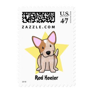 Kawaii Star Red Heeler Postage Stamp