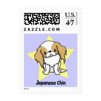 Kawaii Star Red Japanese Chin Postage