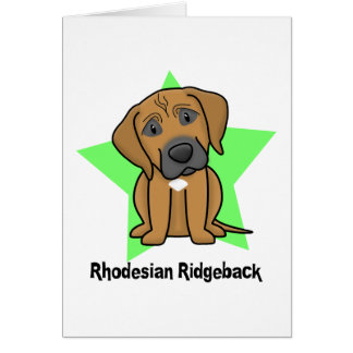Kawaii Star Rhodesian Ridgeback Greeting Card