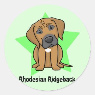 Kawaii Star Rhodesian Ridgeback Classic Round Sticker