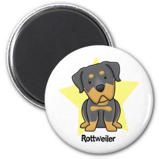 Kawaii Star Rottweiler 2 Inch Round Magnet