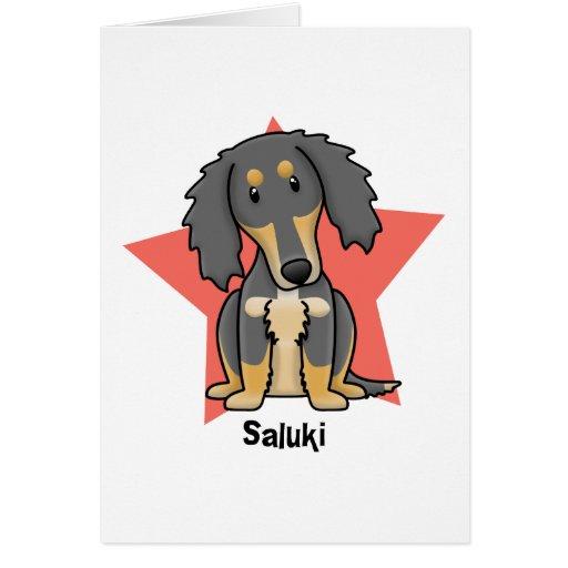 Kawaii Star Saluki Card