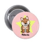 Kawaii Star Shiba Inu Pinback Buttons